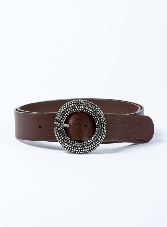 Cinturón de piel de calidad confecionado a mano con correa y hebilla intercambiable
