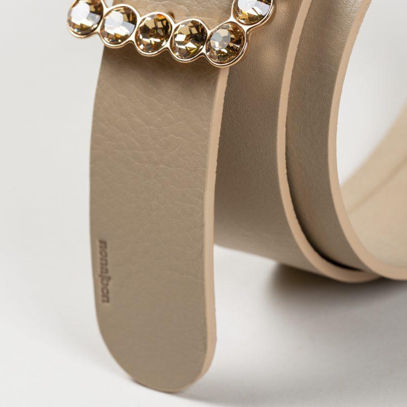 Cinturon de piel de calidad fabricada en curticion vegetal
