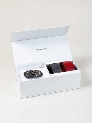 cleo-nero-cinturon-piel-rojo+purpurina-plata-NC033-40-PK